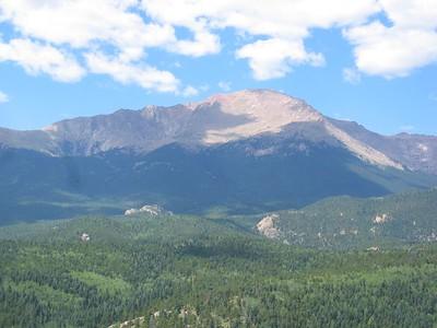 3X telephoto: Atop summit rock with splendid view of Pikes Peak.