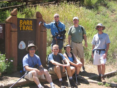 Smiling at end of our little adventure. L-R, Standing: Bill, Randy & Tim.  Seated: Phil, David & Betty Jo.
