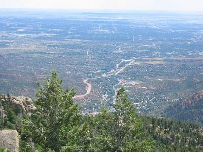 3X telephoto: View down to Colorado Springs.