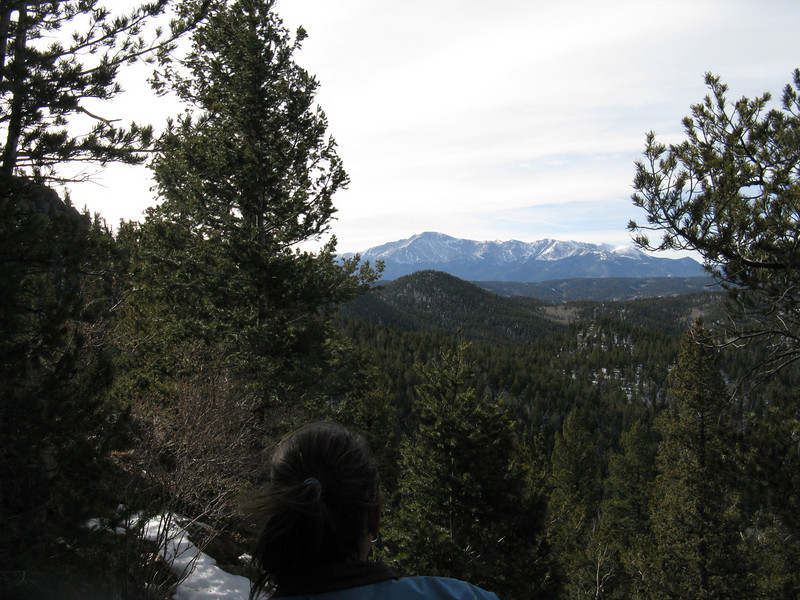 OK, on the final stretch up to the summit - Pikes Peak yonder.