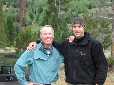 Gnarly Bill and Gnarly Brett - at the Lupine Mdws Trailhead (6700') and ready for a Grand Adventure.