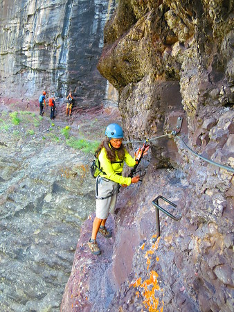 Hanging out on the Via Ferrata, Telluride - 8/22/15