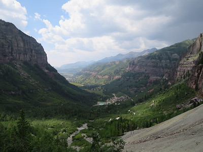 View back west with Telluride below.