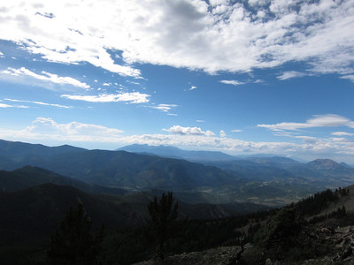 Scene to northwest and the Sangre de Cristo Range.