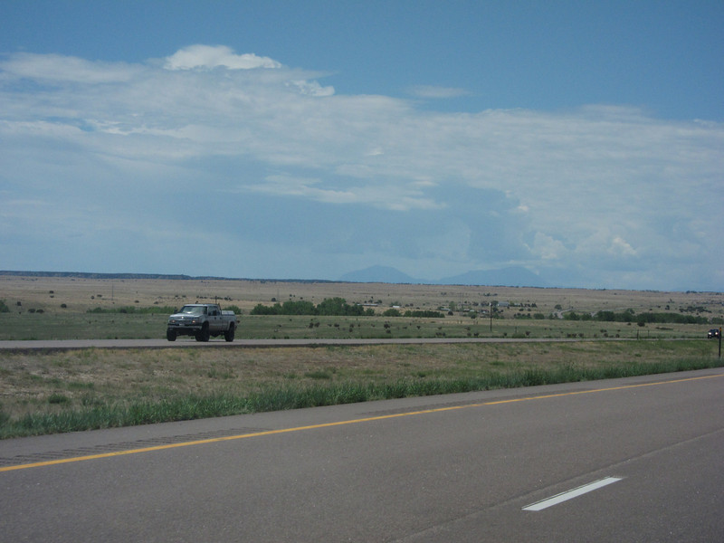 This shot of distant peaks is from south of Pueblo. ... They can also be spotted from the east side of COS.