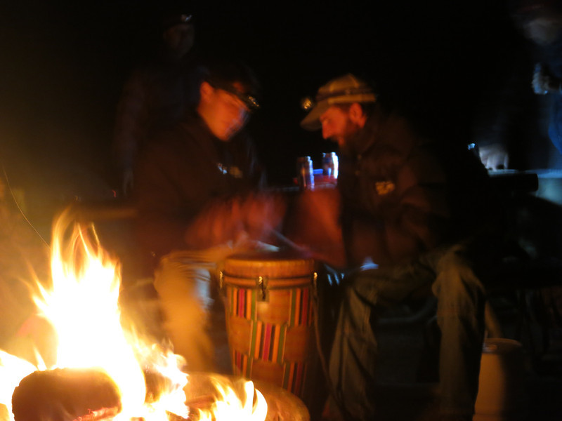 Back off - two drummers in a frenzy.