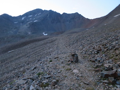 Lots of cairns - easy to follow the trail to the ROA saddle even at night.