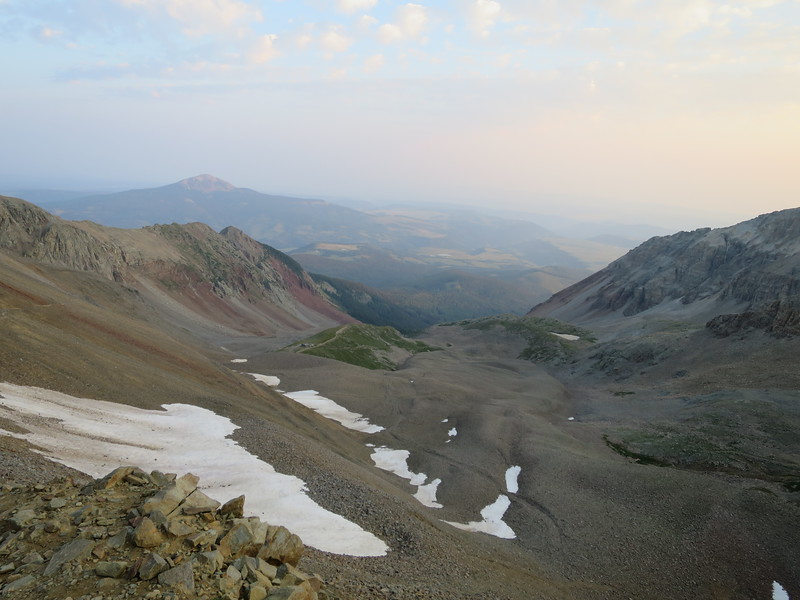 View back down the Silver Pick Basin.
