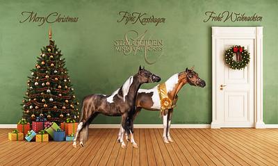 Room interior christmas holiday fir tree background. 3d illustration, 3d rendering.