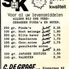 advertentie C. de Graaf, 1982