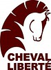 Cheval Liberte Logo  Brown