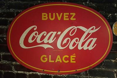 French Canadian Coca Cola sign original