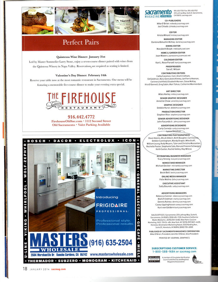 Made the Contributors page.  Also shot Firehouse ad photo.