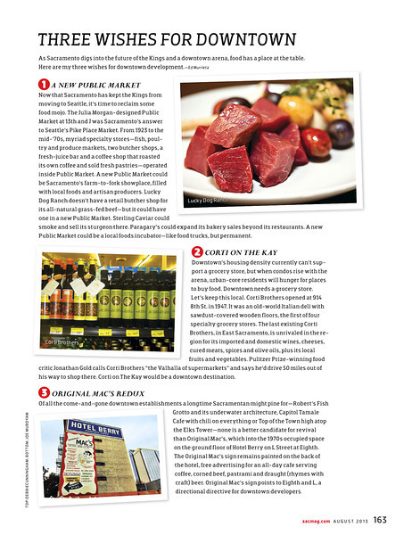 Sacramento Magazine August 2013 Top Photo