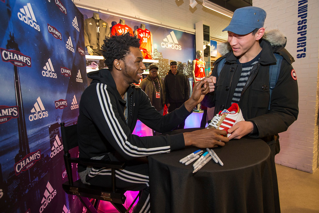 Andrew Wiggins Appearance at Champs