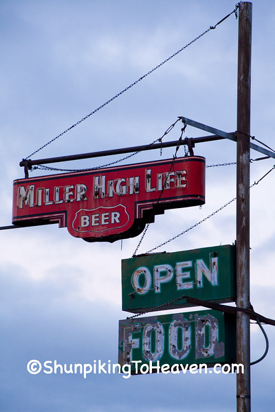 Neon Miller High Life and Food Signs, Dane County, Wisconsin