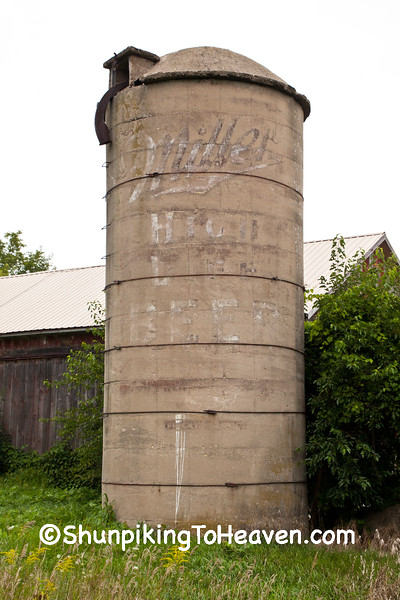 Silo with Miller High Life Ghost Sign, Dane County, Wisconsin