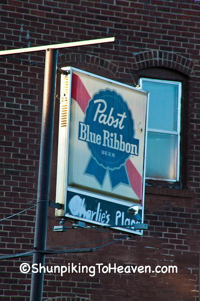 Vintage Pabst Blue Ribbon Sign, Polk County, Wisconsin