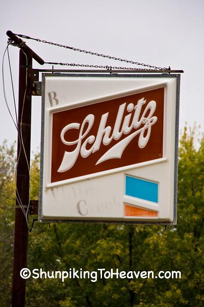 Old Schlitz Beer Sign, Adams County, Wisconsin