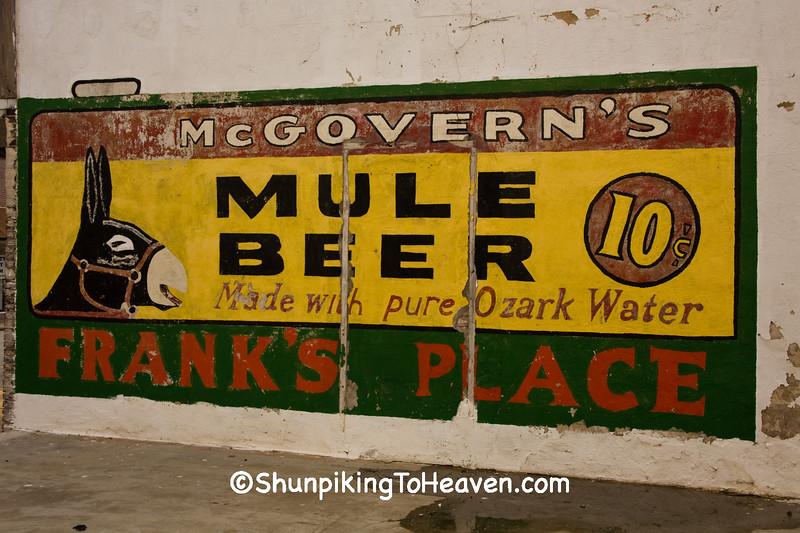Mule Beer Sign, Benton County, Arkansas
