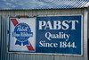 Vintage Pabst Blue Ribbon Beer Sign, Crawford County, Wisconsin