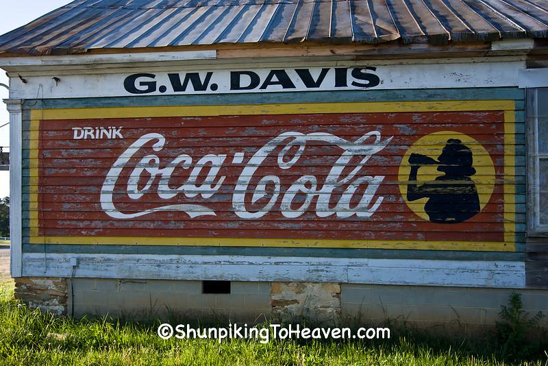 Coca Cola Mural on G.W. Davis General Store, Arcola, North Carolina