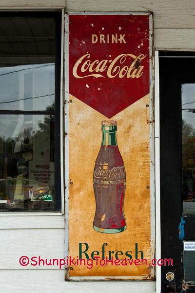 Coca Cola Sign, Symon's Auto Center, Hazel Green, Wisconsin