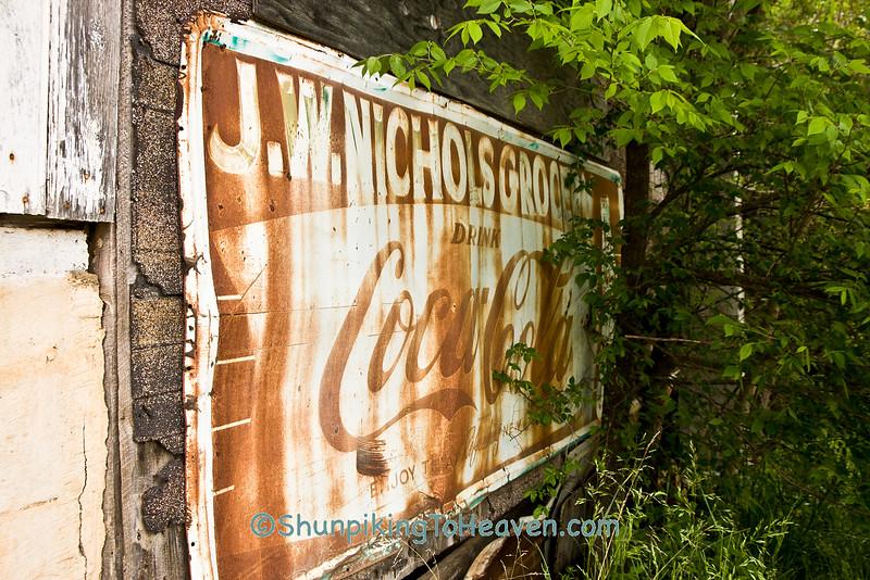 Coca Cola Advertising at Nichols Grocery, Newton County, Arkansas