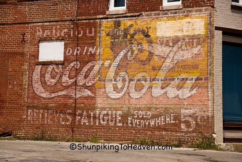 Vintage Coca Cola Sign, Tippecanoe County, Indiana