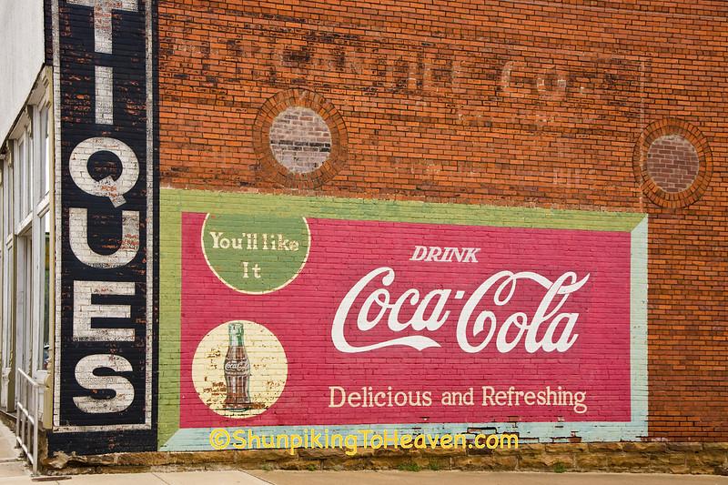 Coca Cola Mural on Old Brick Mercantile Building, Washington County, Arkansas