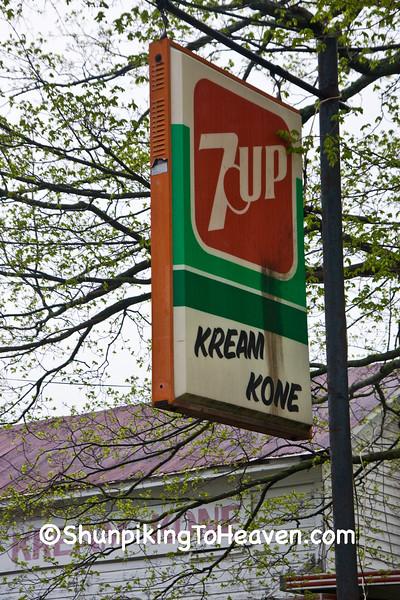 7-Up Sign at Burr Oak Kream Kone, Noble County, Ohio