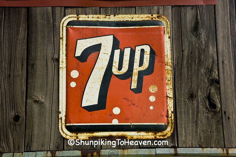 Antique 7-Up Sign, Rabbit Hash, Kentucky