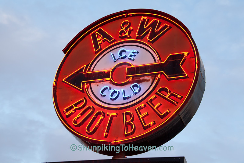 Vintage A&W Root Beer Neon Sign, La Crosse, Wisconsin