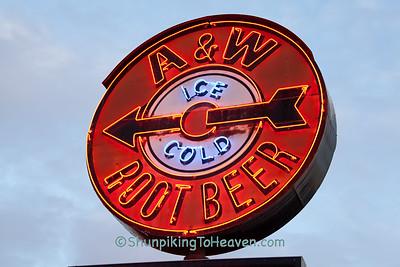Vintage A&W Root Beer Neon Sign, La Crosse, Wisconsin