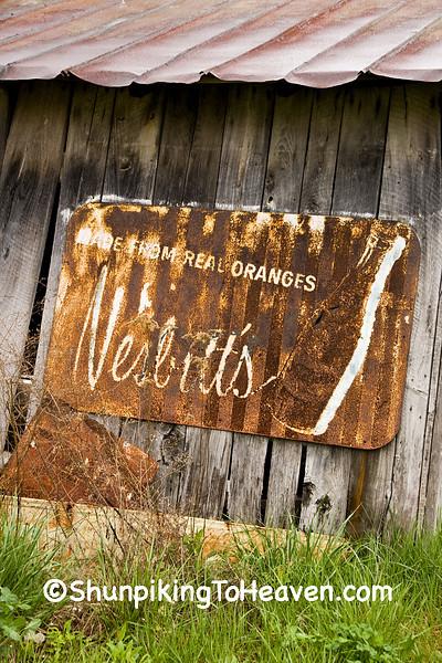 Rusty Old Nesbitt's Orange Soda Sign, Pike County, Ohio