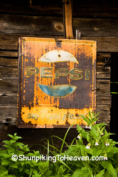 Rusty Antique Pepsi Sign, Rabbit Hash, Kentucky