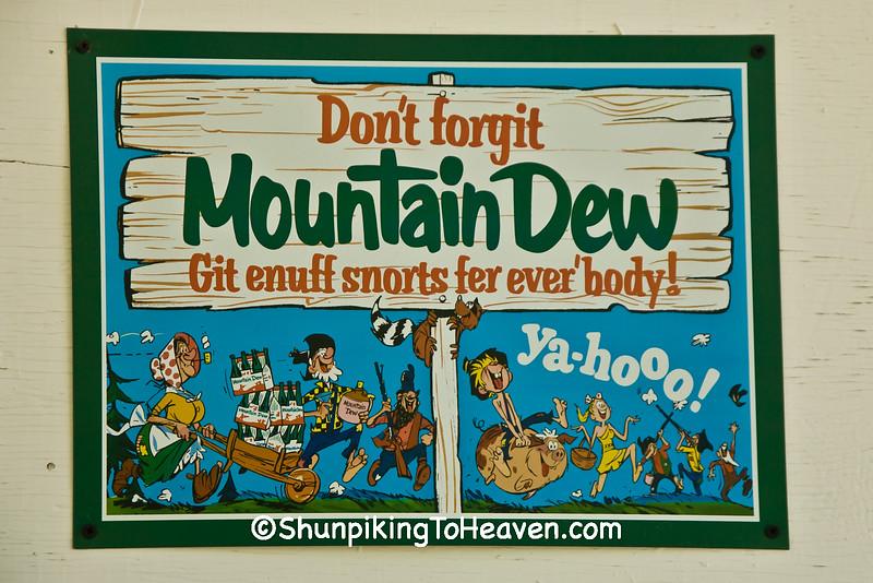 Vintage Mountain Dew Sign, Patrick County, Virginia