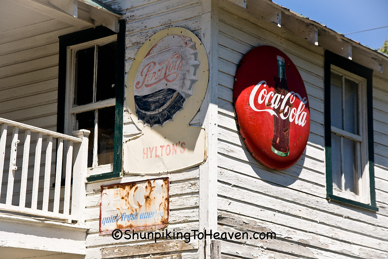 Vintage Soda Signs at Hylton Store, Patrick County, Virginia