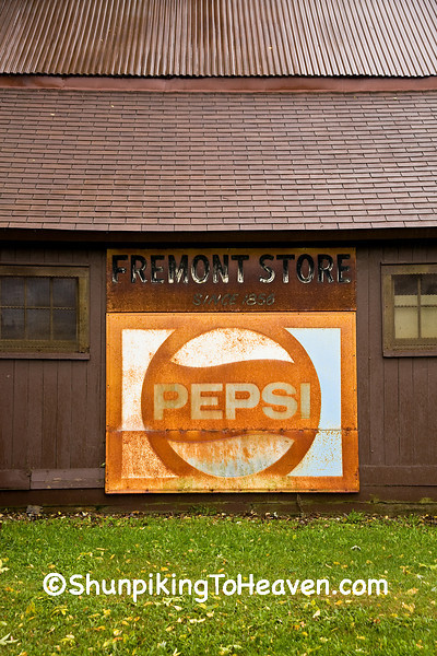 Rusty Pepsi Sign at the Fremont General Store, Winona County, Minnesota