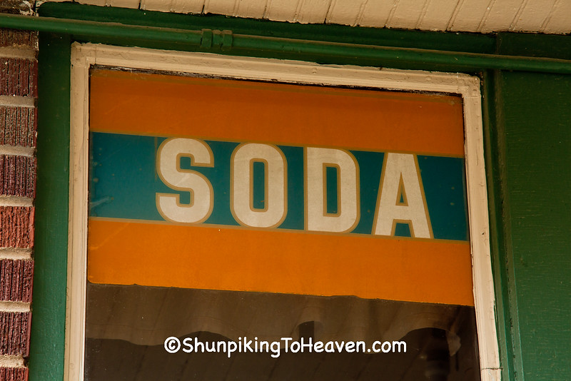 Old Fashioned Soda Sign, Ackley, Iowa