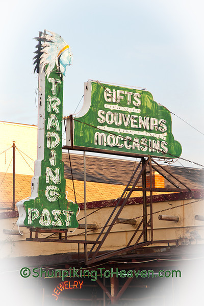 Antique Trading Post Sign, Vilas County, Wisconsin
