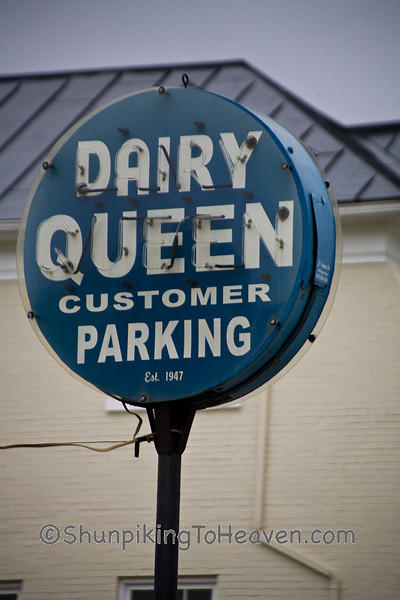 Antique Dairy Queen Sign, 1947, Clinton County, Ohio