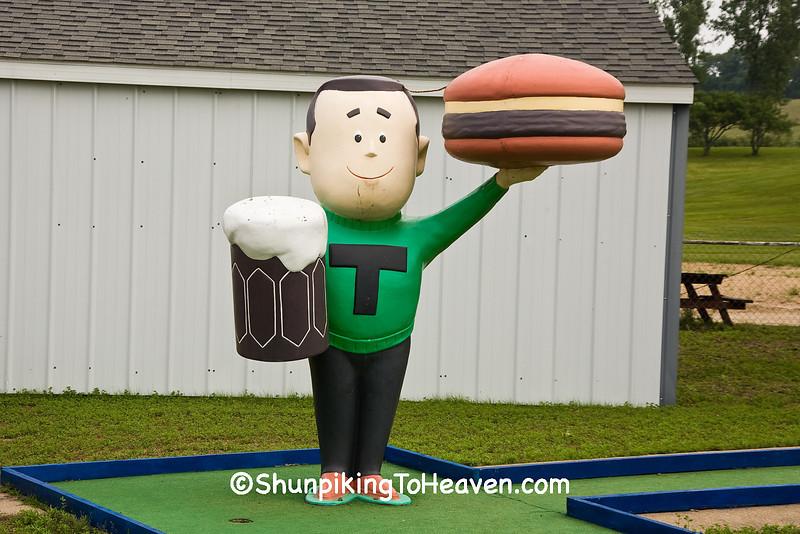Antique A&W Teen Burger Statue, Cedar County, Iowa