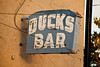 Antique Neon Sign for Ducks Bar, Crandon, Wisconsin