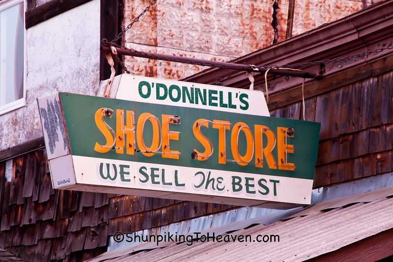 O'Donnell's Shoe Store Sign, Price County, Wisconsin