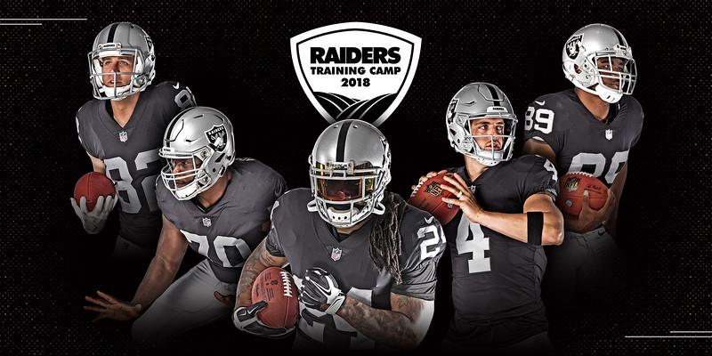 STEP & REPEAT BANNER, Oakland Raiders