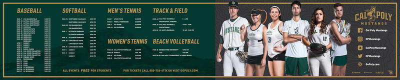 PRINT WALL BANNER, Cal Poly Athletics