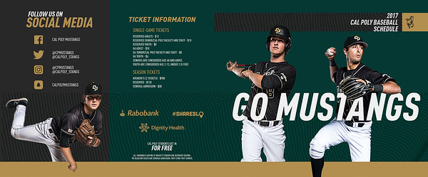 PRINT SCHEDULE BOOKLET, Cal Poly Baseball
