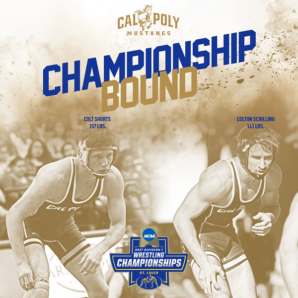 INSTAGRAM CHAMPIONSHIP BOUND GRAPHIC, Cal Poly Wrestling