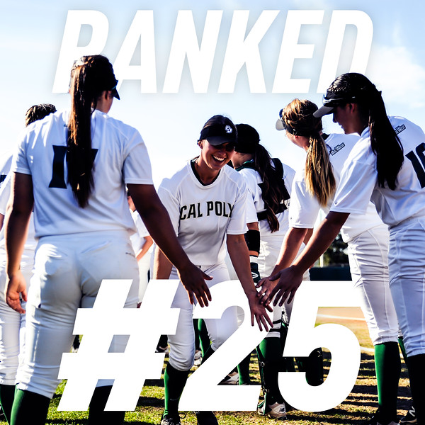 INSTAGRAM RANKED GRAPHIC, Cal Poly Softball